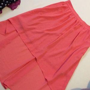 Salmon colored Hi low skirt